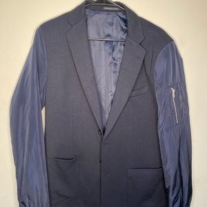 Other - Blue blazer with accent sleeves